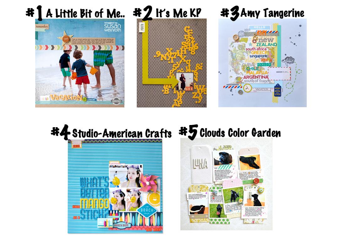 Top 5 Scrapbooking Blogs Sketch Cuts